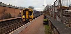 Abellio Scotrail Class 158 158719 arriving at Maryhill Station Platform 1 with service 2W60 (03-12-19) (Rikki Cameron) Tags: trains abellio scotrail scotrailsaltireblue class158 expresssprinter 158719 brel localstoppingservice 2w60 anniesland glasgowqueenstreet maryhill anlglq
