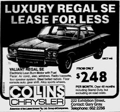 October1979No11 (mat78au) Tags: october 1979 melbourne newspaper extracts chrysler valiant regal se advertisement oct 79