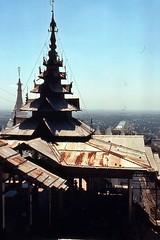 Blick über die Königsstadt Mandaly, und einen teil des Königpalasts von den Mandaly-Hill (walter 7.8.1956) Tags: 1981 asien burma myanmar mandaly