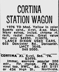 October1979No44 (mat78au) Tags: october 1979 melbourne newspaper extracts 1976 td update cortina wagon advert oct 79 melb