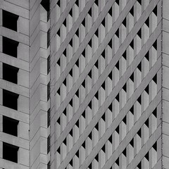 Geometric Architecture (2n2907) Tags: abstract architecture office building windows skyscraper graphic geometric geometry pattern lines graphical contrast shadows triangles array urban