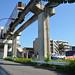Tama Monorail Train Arriving at Koshu-kaido Station 5