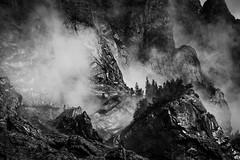 e v a p o r a t i o n ([ I w a n ]) Tags: berner oberland berneroberland gasterntal kandersteg atmosphere fog rain sonya7ii