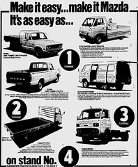 October1979No14 (mat78au) Tags: october 1979 melbourne newspaper extracts mazda commerical vehicles vans trucks oct 79 melb vic