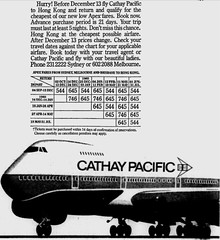 October1979No15 (mat78au) Tags: october 1979 melbourne newspaper extracts cathay pacific airways oct 79 melb advertisement 747 100