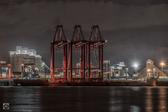 We Three Kings from the Orient. (alundisleyimages@gmail.com) Tags: cranes zenhua25 delivery cargo maritime shipping containerterminal transport industry reflection docks port harbour skills science logistics liverpool merseyside rivermersey storage containers goods imports exports subcranes
