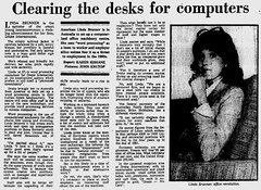 October1979No27 (mat78au) Tags: october 1979 melbourne newspaper extracts pretty linda brunner 27 year old business woman 70s it computer technology