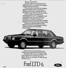 October1979No35 (mat78au) Tags: october 1979 melbourne newspaper extracts new ford ltd 250 6cyl high compression advertisement melb oct 79