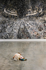 Girl lying before a terrifying landscape by Anselm Kiefer (Allan Rostron) Tags: anselmkiefer