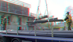 Cooltower Rotterdam 3D (wim hoppenbrouwers) Tags: cooltower rotterdam 3d anaglyph stereo redcyan