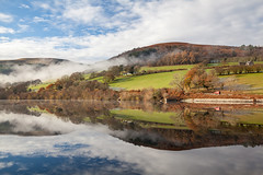 Reflections (carolrowlands) Tags: talybont reservoir breconbeacons reflections clouds