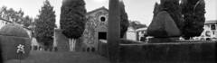 El cementiri / The graveyard (SBA73) Tags: catalonia catalunya katalonien catalogne catalogna pelicula film camara camera analogic classic vintage filmisnotdead filmisalive panoramic panoràmica perafita lluçanès rural kodak panoram no1 ilford fp4 cementiri cementerio graveyard cementery capella chapel xiprer ciprés trees tombs quiet memoria memory calm
