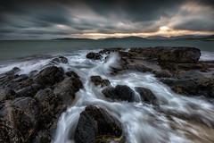 - flood - (verbildert) Tags: scotland isle harris may seascape landscape sunset clouds dramatic rocks time blending d800 nikon