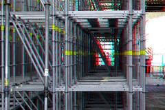 Steigerwerk Cooltower Rotterdam 3D (wim hoppenbrouwers) Tags: steigerwerk cooltower rotterdam 3d anaglyph stereo redcyan scaffolding steiger nieuwbouw