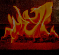 Enjoy the Beautiful Fireplace Aura (nrhodesphotos(the_eye_of_the_moment)) Tags: dsc15013001084 wwwflickrcomphotostheeyeofthemoment theyeofthemoment21gmailcom abstract flames holiday heat redhot aura fireplace texture reflections shadows