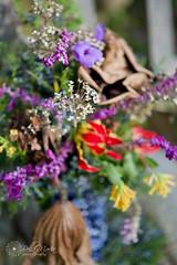 Late Autumns bouquet (glasskunstler) Tags: flowers blossoms gloriosa lillies hummingbird tree cyprus berries garlic vase salvia lotus dried leaves seedbeds garden landscape