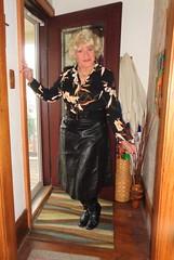 Showing Off . . . (Laurette Victoria) Tags: skirt blouse boots leather blonde laurette woman