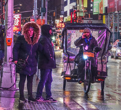 transportation (albyn.davis) Tags: night light timessquare nyc newyorkcity people transportation wet weather winter street urban city usa color travel