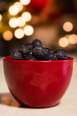Fruit for Breakfast ... (Cristy McAuley) Tags: blueberries breakfast bokeh morning crazytuesday fruitblue red cup light frozen antioxidants