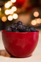 Fruit for Breakfast ... (Cristy McAuley) Tags: blueberries breakfast bokeh morning crazytuesday fruitblue red cup light frozen antioxidants