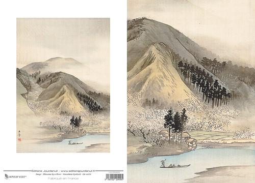 09-Carte double // 12x17cm // Blossom River