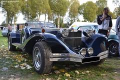 Sparks Turbo (Monde-Auto Passion Photos) Tags: voiture vehicule auto automobile cars excalibur phaeton cabriolet convertible roadster spider sportive rare rareté bleu blue rassemblement france montereaufaultyonne