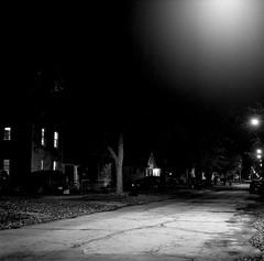 Champaign, IL. 2019. (freedomflash) Tags: night mediumformat hasselblad street film 500cm blackandwhite micahmccoy champaign