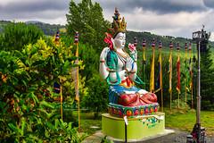 Statua di Cenresig - Statue of Cenresig (Eugenio GV Costa) Tags: approvato statua pomaia pisa toscana buddha cenresig istituto lama tzong khapa centro buddhismo tibetano center tibetan buddhism tuscan