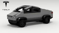Tesla Cybertruck (LegoGuyTom) Tags: tesla cybertruck elon musk lego legos legodigitaldesigner ldd lxf legocity electric vehicle classic vintage truck trucks pickup pickuptruck american america concept pov povray dropbox download