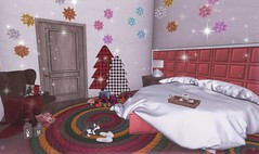 Creating Christmas atmosphere (Rose Sternberg) Tags: deco decor home furniture garden interior outdoor landscape second life november 2019 exclusive for infinite leos leo bed headboard sidetable stephanies lamp n21 what next tray marlow sways astra sphere stars morey rope rug bee designs christmas cosi armchair lane bliensen maitai gifts flourish sale your dreams my sanctuary house rare cat with slippers marketplace