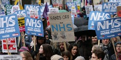 General Election - NHS Privatisation (Diego Sideburns) Tags: generalelection nhsprivatisation ushealthcorporations hedgefunds equityfirms fatcats mentalhealthservices nhs