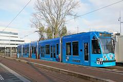 Amstelstation - Amsterdam (Netherlands) (Meteorry) Tags: europe nederland netherlands holland paysbas noordholland amsterdam oost east est watergraafsmeer amstelstation julianaplein prinsbernhardplein mrteublaan siemens combino 13g 9292 blue bleu dutch tram streetcar tramway public transport publique transportencommun transit gvb gvb2086 gvb12 terminus december 2019 meteorry