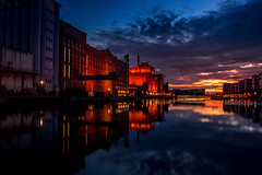 Duisburg Innenhafen (..Jan) Tags: duisburg hafen alt altstadt nacht blue hour langszeitbelichtung