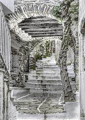 B5D_2983a Avenues and Alleyways (foxxyg2) Tags: alleyways steps tunnels marble moni naxos cyclades greece greekislands islandlife islandhopping niksoftware dxo dfine2