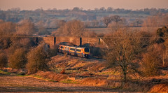 Kibworth (Peter Leigh50) Tags: wistow road bridge fujifilm fuji field farmland train trees track railway railroad rail rural countryside meridian east midland railways emr sunshine sunlight afternoon december winter xt2 landscape leicestershire kibworth