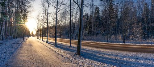Rare sunny day in Helsinki