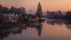 The Boathouse (Rob Pitt) Tags: the boathouse chester pub river dee morning mist winter frost cheshire sunrise
