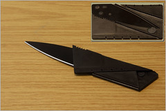 Scheckkartenmesser (gynti_46) Tags: messer taschenmesser knife sackmesser klappmesser kreditkartenmesser credit card camping knive