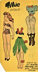 HAWAII COSTUME AND COWGIRL OUTFIT (Kleiaa) Tags: cowgirl hawaii hawaiianpaperdoll cowgirlpaperdoll newspaper newspaperpaperdoll paperdoll