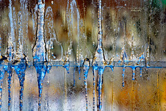 window view (mariola aga) Tags: winter glass glasswall cold moisture frozen icicles interior closeup art abstract