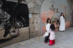 R0060259-1 (nae2409) Tags: girl lady street art wall hanoi vietnam ricoh gr2
