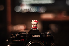 Kitty & 57/1.4 (Spíví) Tags: hello kitty konica hexanon 57 f14 14 love t4 autoreflex spivi photo intagram spivii czech