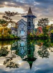 St. Huberts Chapel (Tom Hannigan) Tags: st hubert huberts chapel nj newjersey lake fall sunset kinnelon hannigan reflection reflections wallpaper background