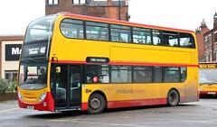 Midland Classic 64 SN11BMV working Burton upon Trent area services (Gobbiner) Tags: 64 burtonupontrent e400 enviro midlandclassic sn11bmv firstcapital towertransit dn33613 adl