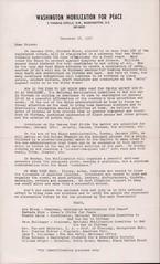 Flyer calls for demonstration at Nixon Inaugural: 1968 (Washington Area Spark) Tags: washington mobilization for peace vietnam war president richard nixon inauguration demonstration protest march counterinaugural rally dc district columbia 1968