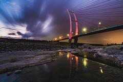 新竹。新中正大橋 (crazychuo) Tags: landscape night reflection bridge taiwan 新竹 夜景 雲彩 倒影 中正大橋