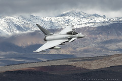 RAF Typhoon (dmeg180) Tags: jet plane airplane aircraft raf royalairforce fgr4 typhoon lowlevel starwarscanyon jeditransition r2508 sidewinder nikon d500 200400mm deathvalley