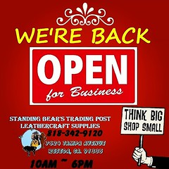 Our Thanksgiving Break is OVER... We Are BACK! Open For Business! 10AM-6PM Monday - Saturday! Come to See us and Shop small for your Leathercraft Supplies at Standing Bear's Trading Post, Leather by WC​ 818-342-9120 7624 Tampa Avenue, Reseda, CA. 91335 #W (standingbears) Tags: instagram lets talk leather leathercraft supplies think outside big box shop small leatherwork supply standing bears trading post