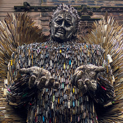 The Knife Angel 2 (Charliebubbles) Tags: olympusem5mkii panasoniclumixg20mmf17asph bridge photoshopcc cheshire chester chestercathederal stilllife sculpture art alfiebradley documentary 11 street streetart 2019 unitedkingdom