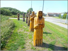 Sculptures of Six Monks ... (** Janets Photos **) Tags: uk eastyorkshire history hull bransholme meaux monks monestry hamlets